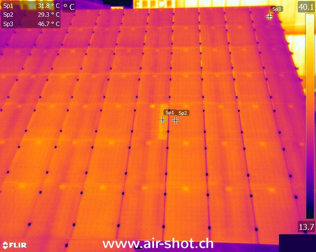 Wärmebild Photovoltaik Anlage